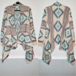 DREAMERS | Tribal Waterfall Open Cardigan Sweater